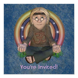 Hippy 60's Square Party Invitations