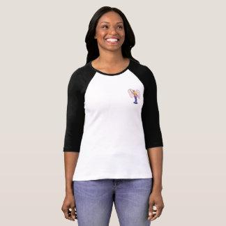 Hippy Angel Girl on pocket detail. T-Shirt