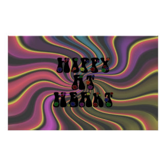 Hippy at Heart 60s Retro Poster