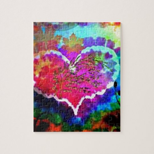 Hippy at Heart Rainbow Tie Dye gift collection Jigsaw Puzzle