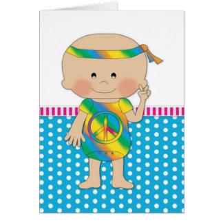 Hippy Baby Blue Card