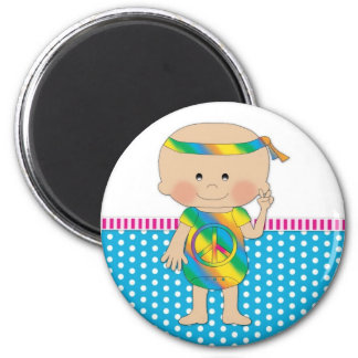Hippy Baby Blue Refrigerator Magnet