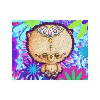 Hippy Bear Canvas Print