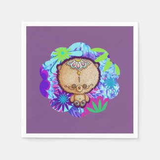 Hippy Bear Disposable Serviettes