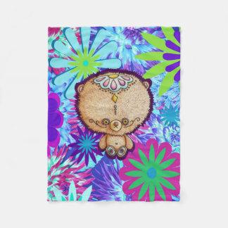 Hippy Bear Fleece Blanket