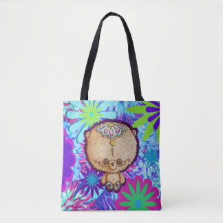 Hippy Bear Tote Bag