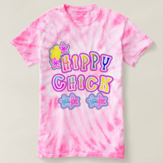 Hippy Chick Flower Power Funky Graphic T-Shirt
