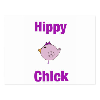 Hippy Chick Postcard