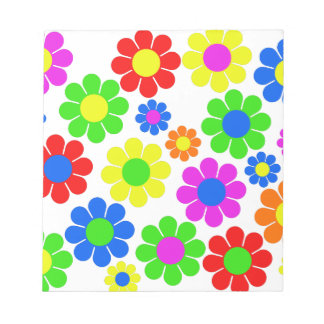 Hippy Flower Collage Notepad