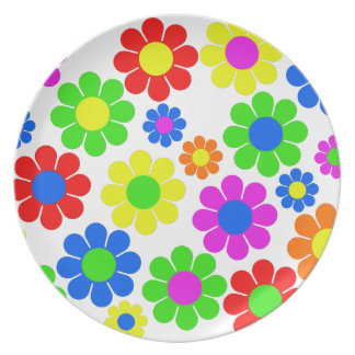 Hippy Flower Collage Plate