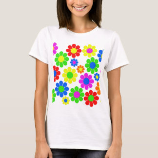 Hippy Flower Collage T-Shirt