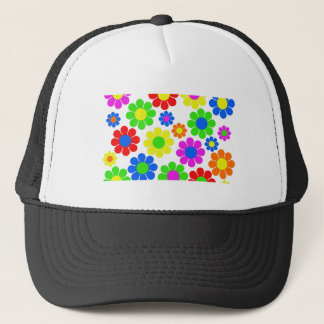 Hippy Flower Collage Trucker Hat