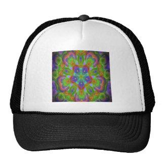 Hippy flower design trucker hat
