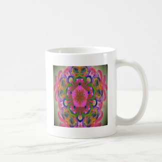 hippy flower design coffee mug