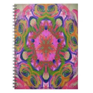 hippy flower design PRNOTEBOOK FOR COLLEGE STUDENT Notebook