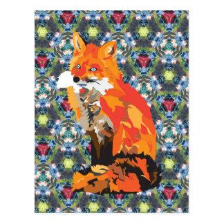 Hippy Fox Postcard