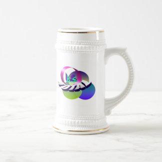 Hippy Logo White bkgrnd Stein Mug