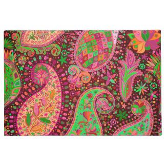 Hippy Peace Retro Colorful Boho Chic Doormat