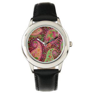 Hippy Peace Retro Hand Colorful Boho Watch