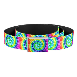 Hippy Peace Retro Tie Dye Colorful Boho Belt
