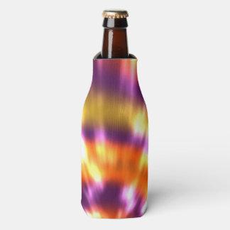 Hippy Peace Retro Tie Dye Colorful Boho Bottle Cooler