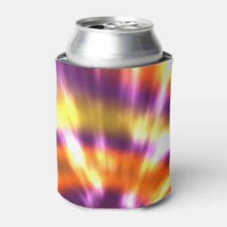 Hippy Peace Retro Tie Dye Colorful Boho Can Cooler