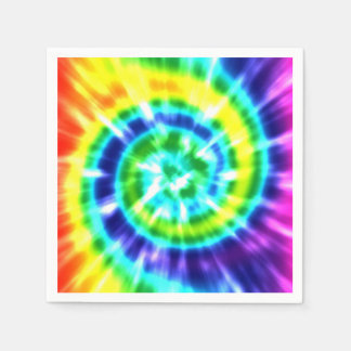 Hippy Peace Retro Tie Dye Colorful Boho Disposable Napkin