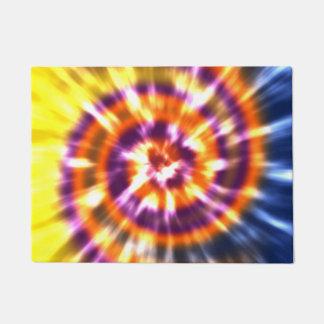 Hippy Peace Retro Tie Dye Colorful Boho Doormat
