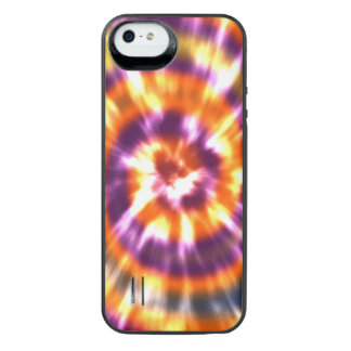 Hippy Peace Retro Tie Dye Colorful Boho iPhone SE/5/5s Battery Case