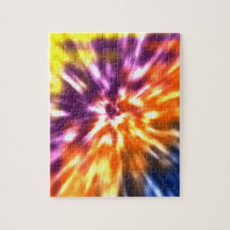 Hippy Peace Retro Tie Dye Colorful Boho Jigsaw Puzzle