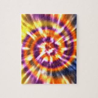 Hippy Peace Retro Tie Dye Colorful Boho Jigsaw Puzzle