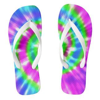 Hippy Peace Retro Tie Dye Colorful Boho Thongs