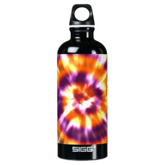 Hippy Peace Retro Tie Dye Colorful Boho Water Bottle