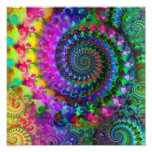 Hippy Rainbow Fractal Pattern Poster Photographic Print