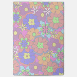 Hippy Retro Flowers Post-it Notes