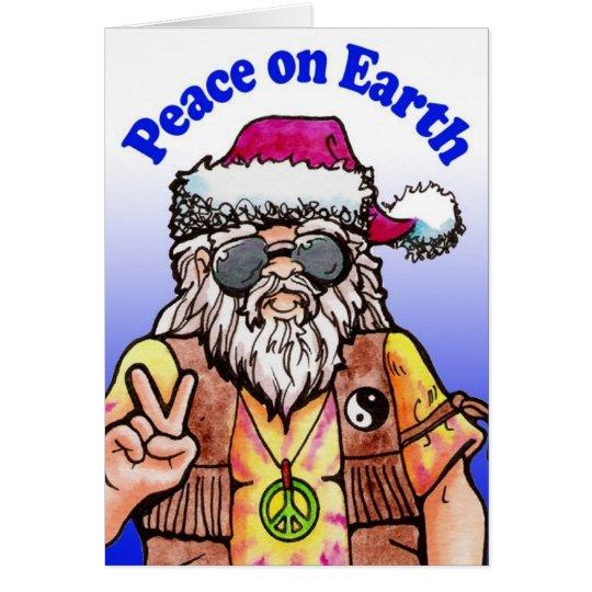 Hippy Santa Card