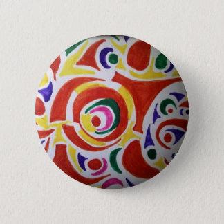 Hippy Swirls 6 Cm Round Badge