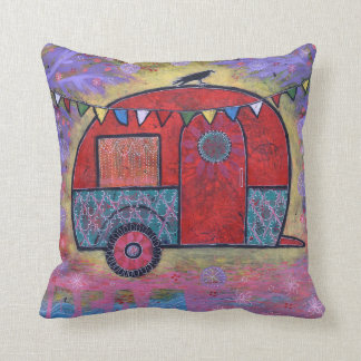 Hippy Teardrop Trailer Camper with Raven Cushion