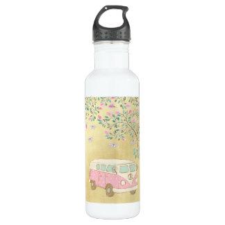 Hippy Van Butterflies and Blossom Gold 710 Ml Water Bottle