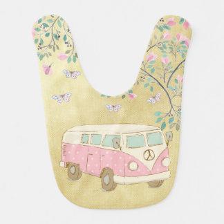 Hippy Van Butterflies and Blossom Gold Bib