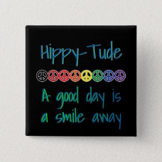 HippyTude A Good Day Rainbow Peace 15 Cm Square Badge