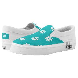 Hipstar Hashtag Blue Slipon Sneaker Slip-On Shoes