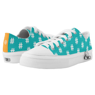 Hipstar Hashtag Blue Sneakers