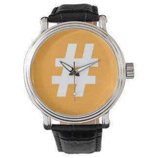 Hipstar Hashtag Orange Watch