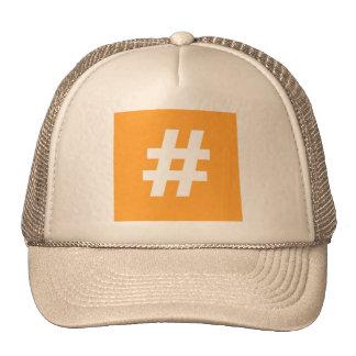 Hipstar Hashtag Trucker Hat (Orange)