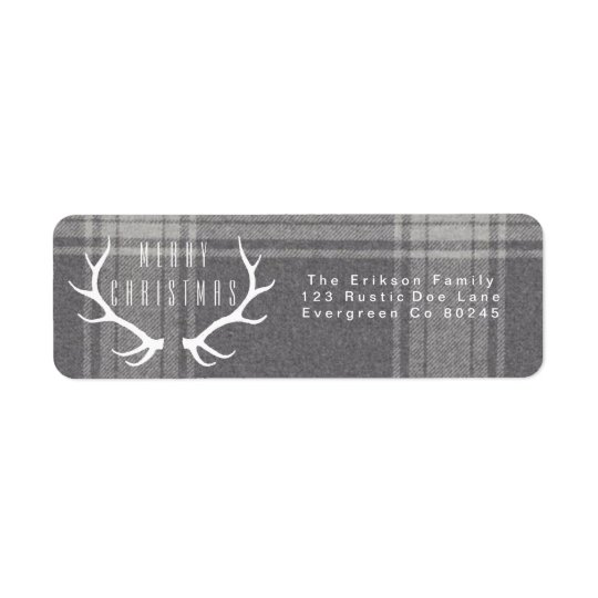 Hipster Antlers | Christmas Return Address Label