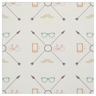 Hipster Arrows, Mustache Fabric