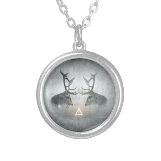 Hipster Art Silver Plated Necklace