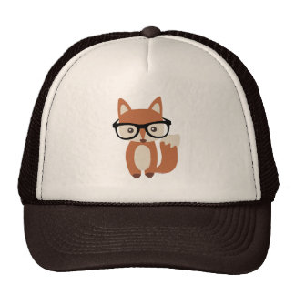 Hipster Baby Fox w/Glasses Cap