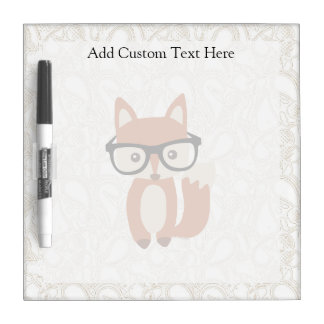 Hipster Baby Fox w/Glasses Dry Erase Board